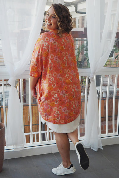 coral shrug in xl