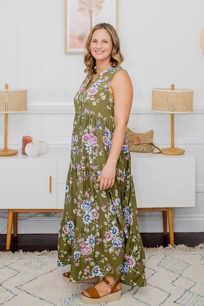 maxi dress with buttons for breatsfeeding