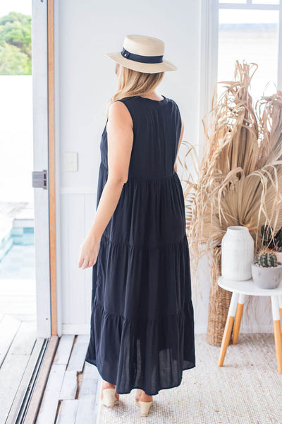 long black summer dress
