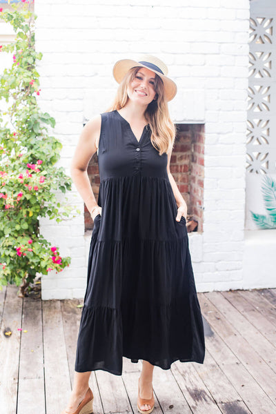 ethically made maxi dress