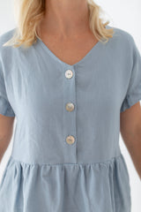 linen dress with buttons