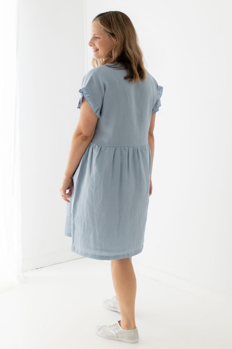 feeding friendly linen dress