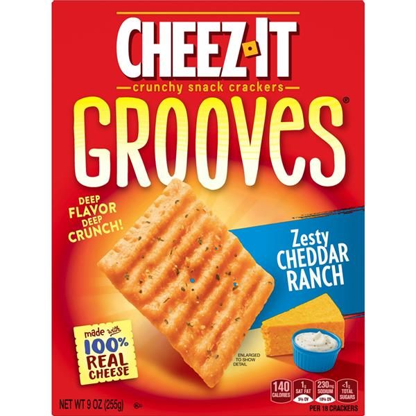 Cheez-It Grooves Zesty Cheddar Ranch. 255g
