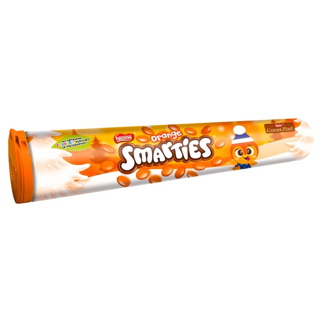 Smarties milk chocolate orange flavour 130g
