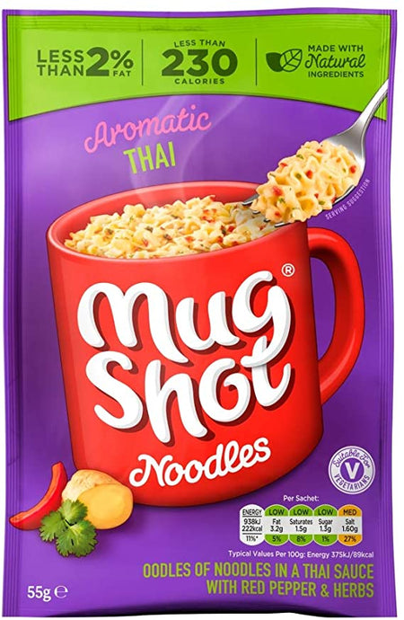 MUG SHOT Aromatic Thai Noodles, 55g