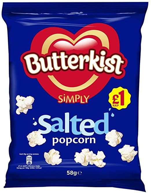 Butterkist Simply, Salted Popcorn, 58g