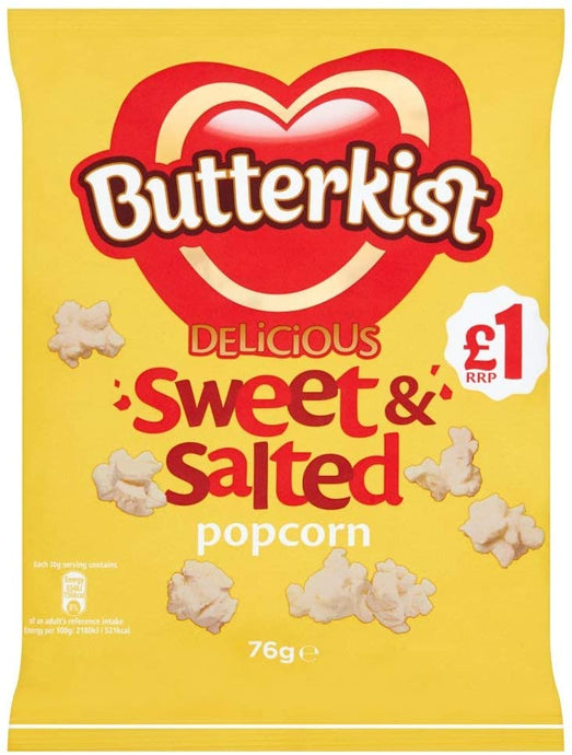Butterkist Delicious Sweet & salted popcorn, 76g
