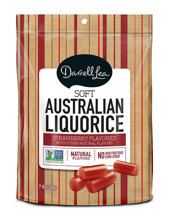 Darrell lea Soft Australian Strawberry Licorice -  7oz
