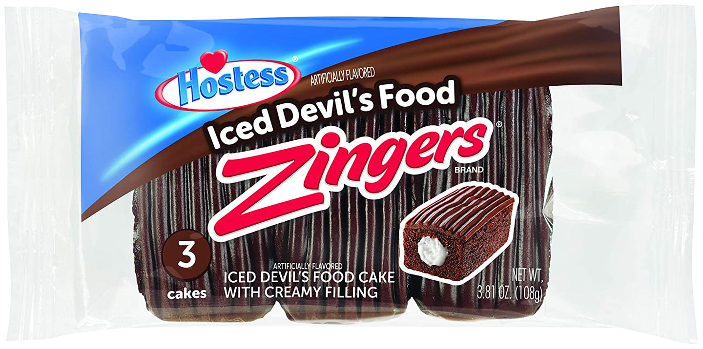 Hostess Iced Devil's Food Zingers