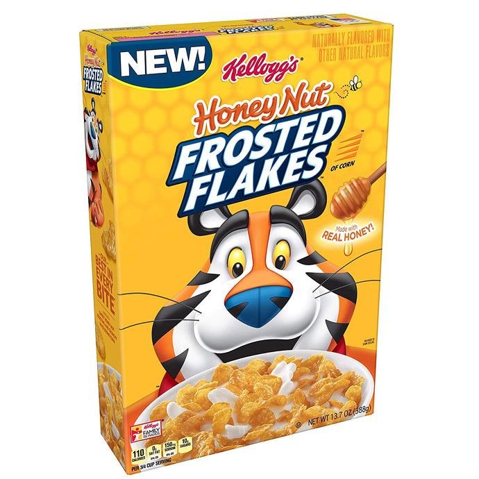Frosted Flakes Honey Nut Breakfast Cereal