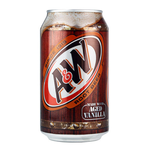 A&W Root Beer, Made with aged vanilla.