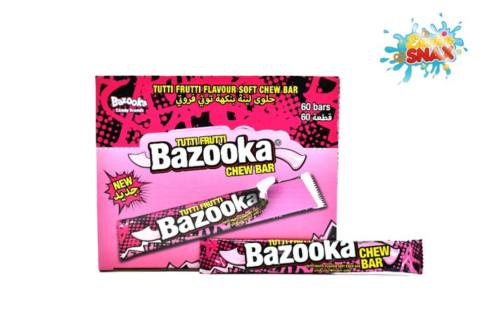 Bazooka Rasberry chew bar 60 Bars