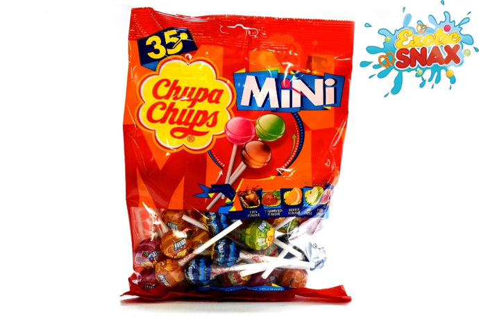 Chupa Chups assorted flavour mini lollipop bag 35pcs