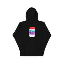 Load image into Gallery viewer, Fluff - I only love my snax and my mom I'm sorry - Black hoodie