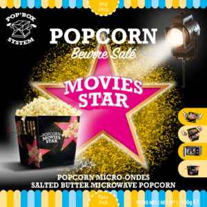 Popcorn, Beurre sale, Movies star, salted butter microwave popcorn