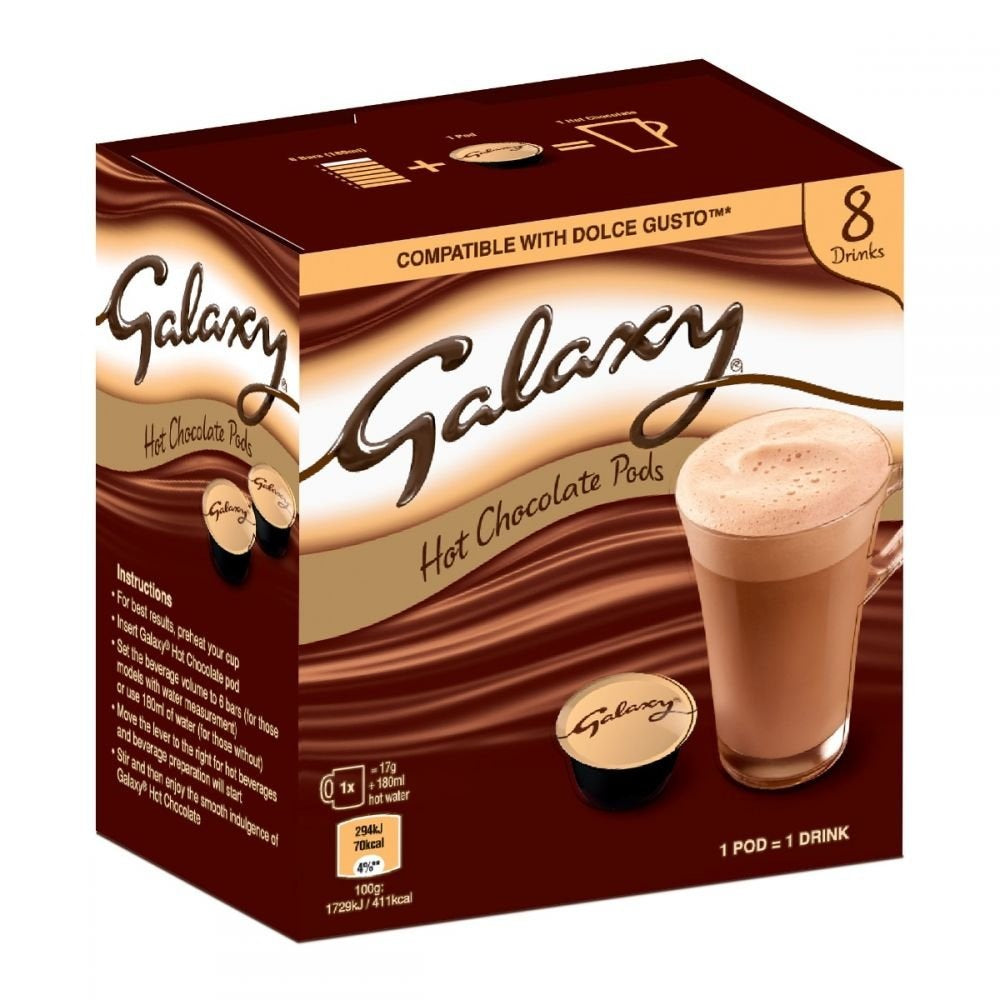 Galaxy Hot Chocolate Pods 136g