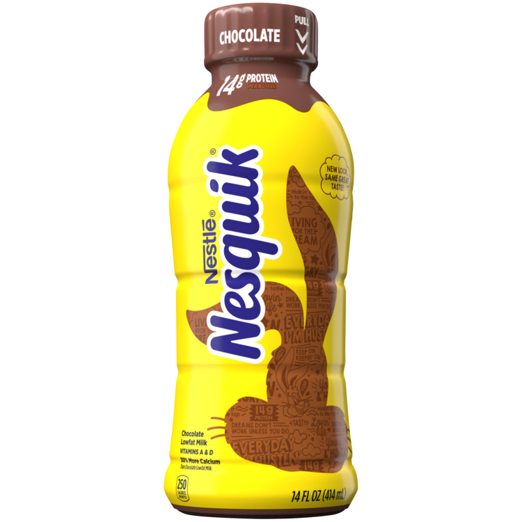 Nesquik Milk, Low-Fat, Chocolate 14oz
