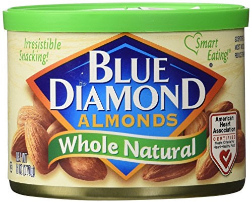 Blue Diamond Almonds, Whole Natural,170g