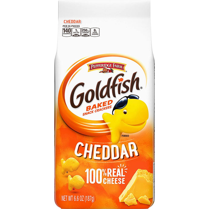 Goldfish Baked Crackers Cheddar