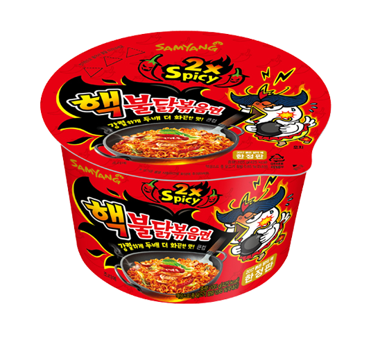 SAMYANG 2X SPICY HOT CHICKEN FLAV RAMEN Bowl, 105g