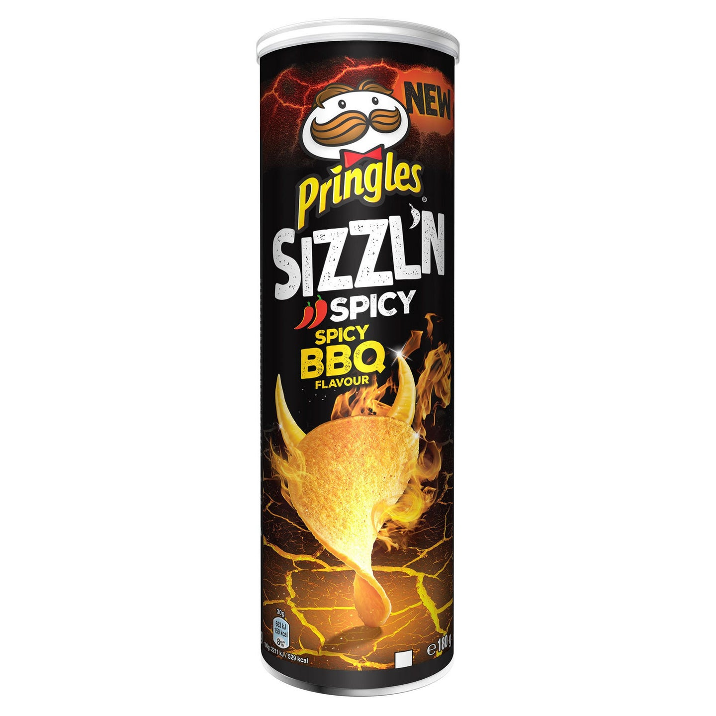 Pringles Sizzl'n Spicy BBQ Flavour 180g