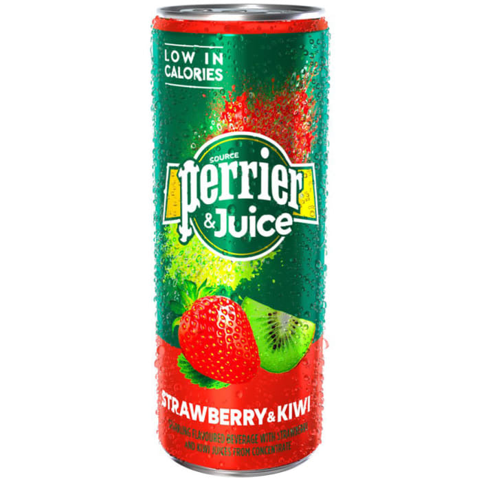 Perrier & Juice Strawberry & Kiwi 25cl