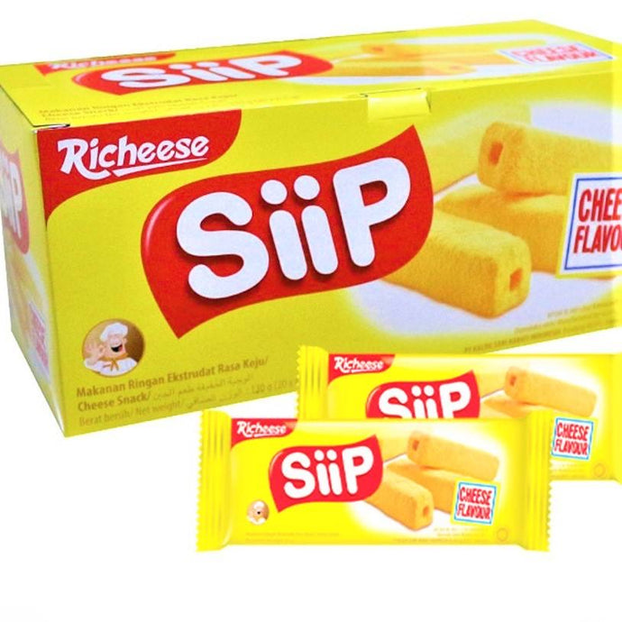 Siip Richeese Snack 130g x 20 Cheese Flavor