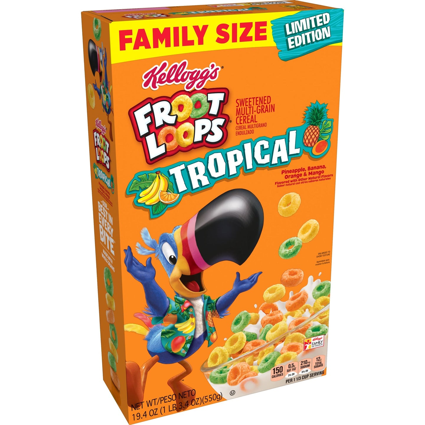 Froot Loops Tropical Limited Edition 19.4 oz Family Size