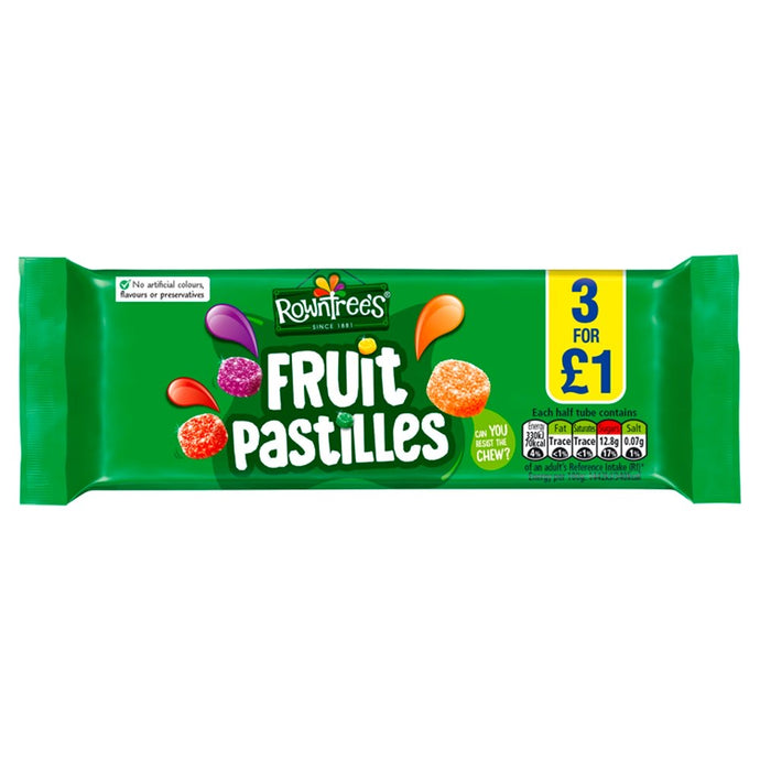 Rowntrees fruit Pastilles pack 3 bars