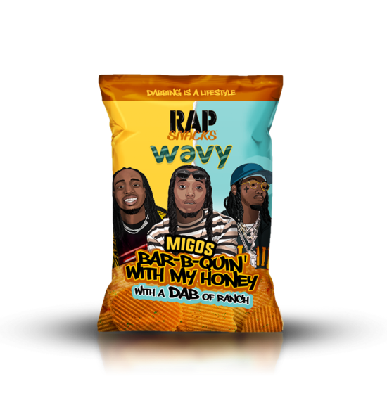 "Rap Snacks ""Migos"" Bar-B-Quin' With My Honey with a Dab of Ranch"