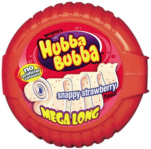 Wrigley's Hubba Bubba Snappy Strawberry Flavour Mega Long