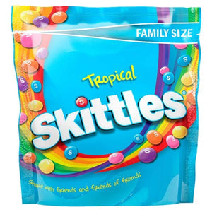 Skittles Tropical Fruit Flavoured Candy, 196g