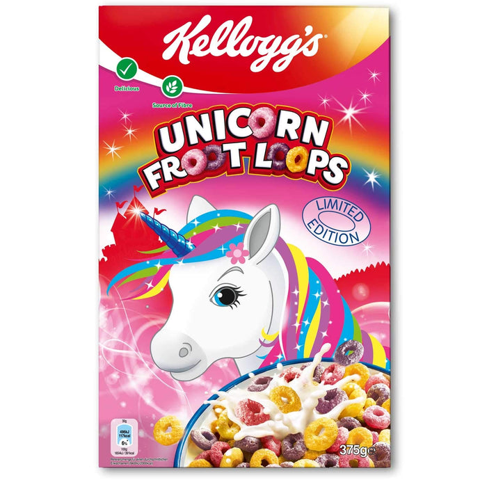 Kellogg's Unicorn Froot Loops cereal, 375gm