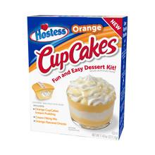 Load image into Gallery viewer, Hostess Orange CupCakes Dessert Kit, 6 serve