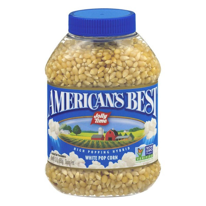 American's Best White Pop Corn 30 oz