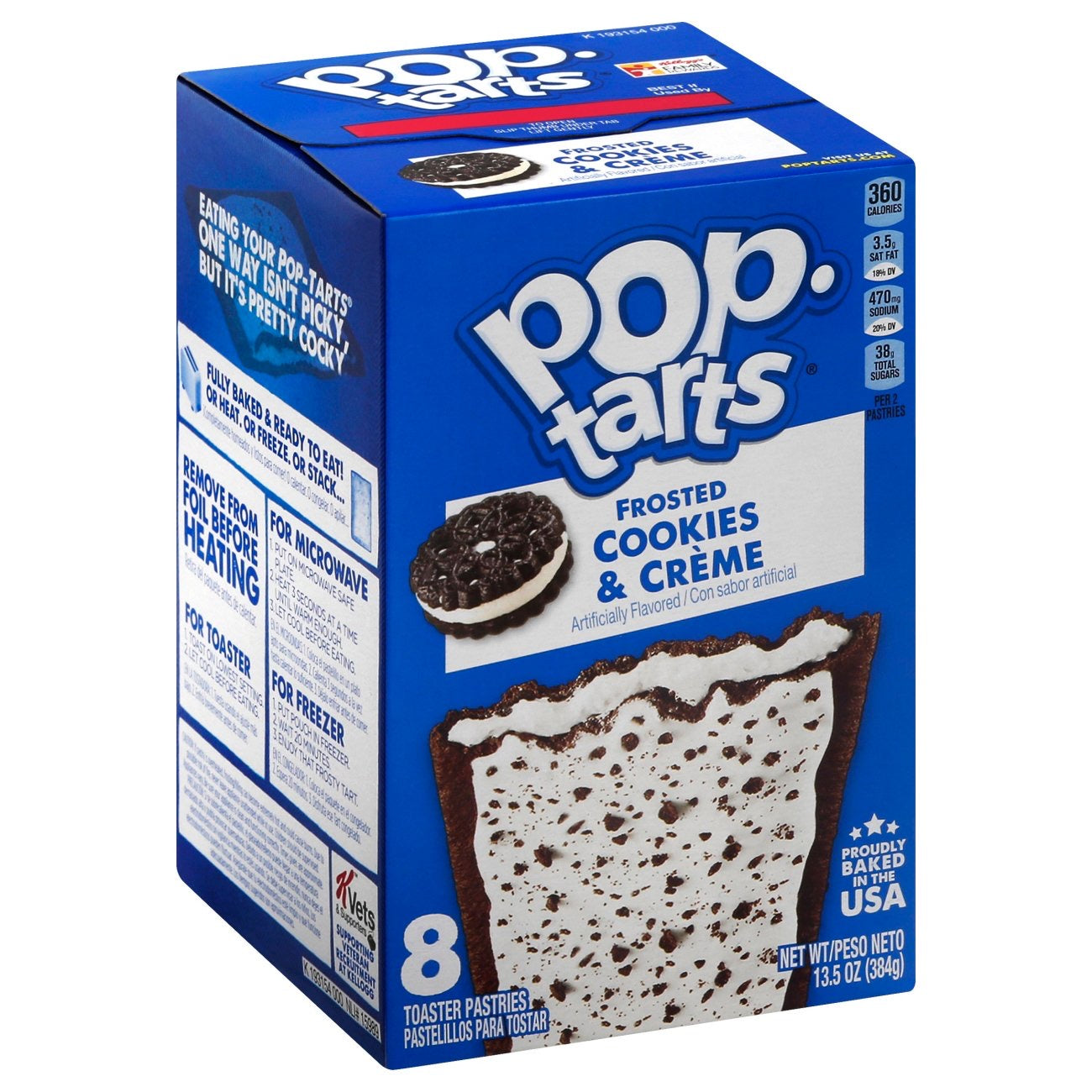 Pop tarts Kellogg's Frosted Cookies and Creme 8 pcs