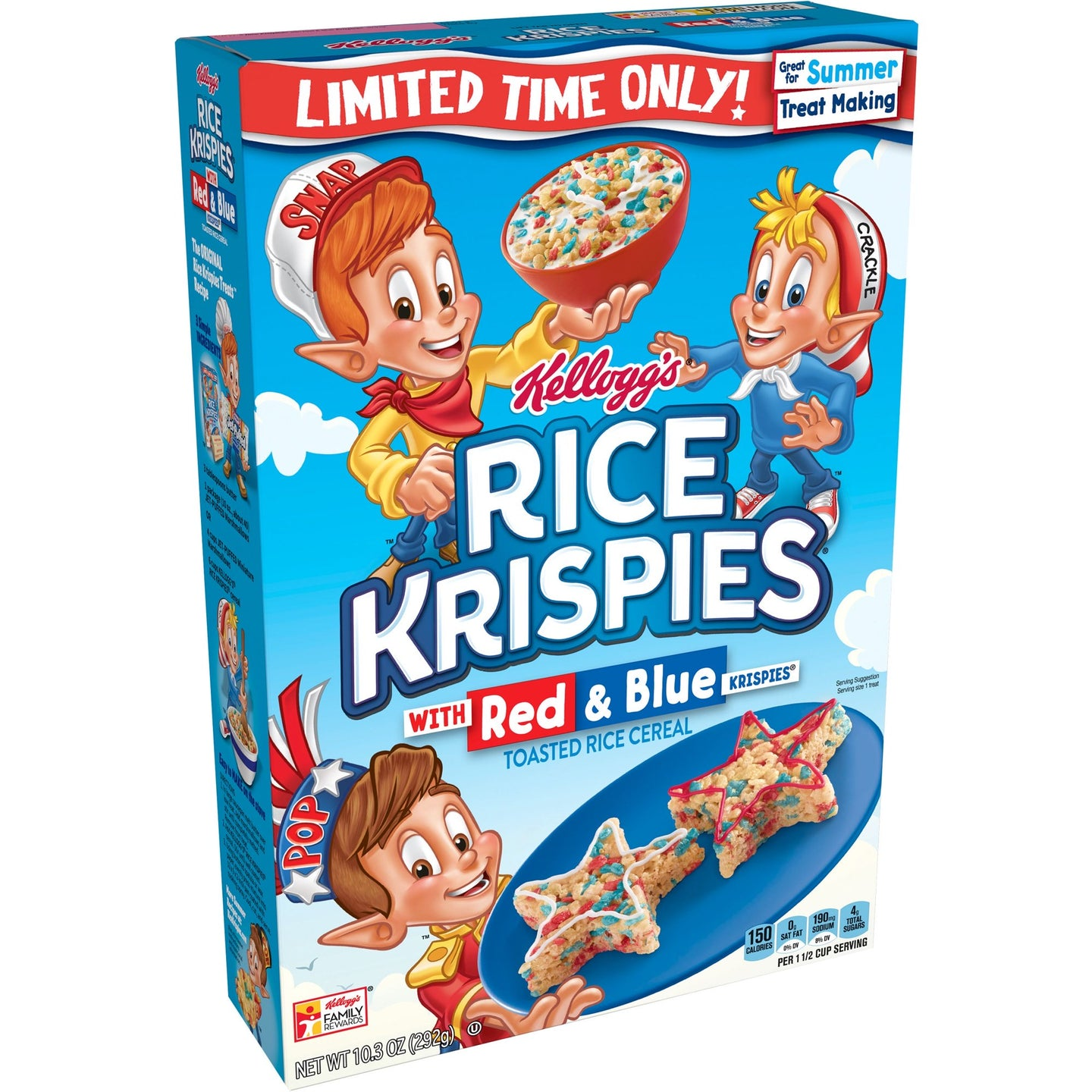 Kellogg's Rice Krispies with Red & Blue Cereal 10.3oz