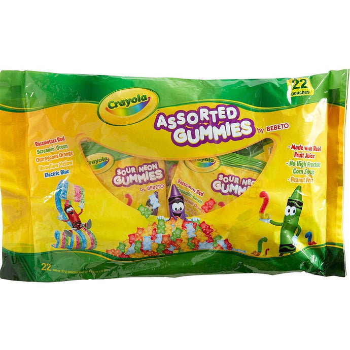 Crayola Assorted Gummies Candy Pouches 22