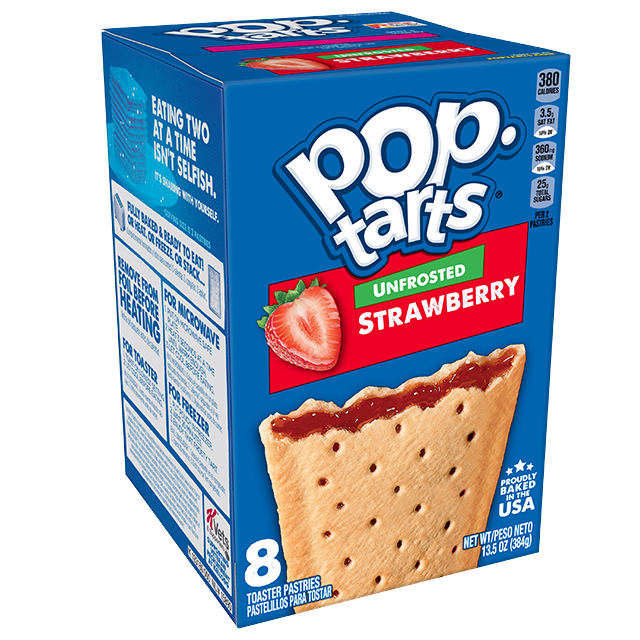 Pop-Tarts Kellogg's Unfrosted Strawberry