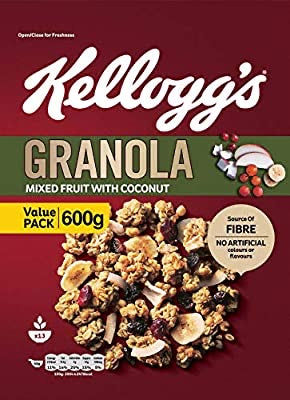 Kellogg's Granola , Mixed fruit with coconut ,600 gm
