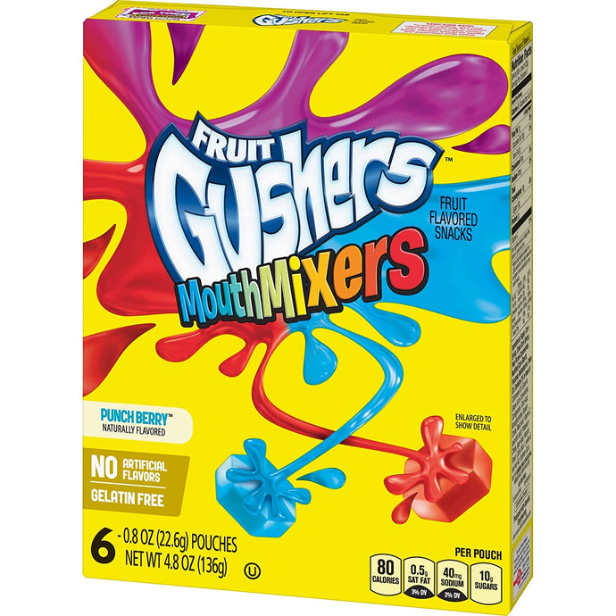 Fruit Gushers Mouth Mixers 136g