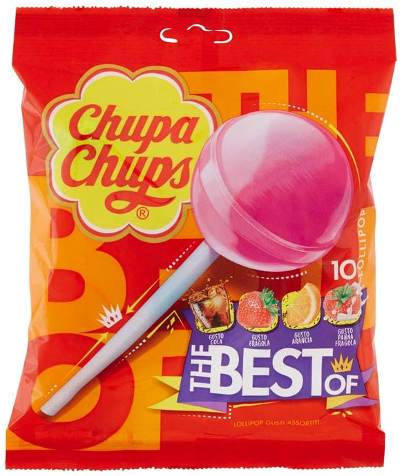 Chupa Chups The Best Of Lollipops 10 Assorted flv