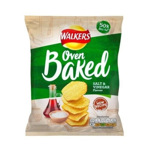 Walkers Oven Baked SALT & VINEGAR. 25gm