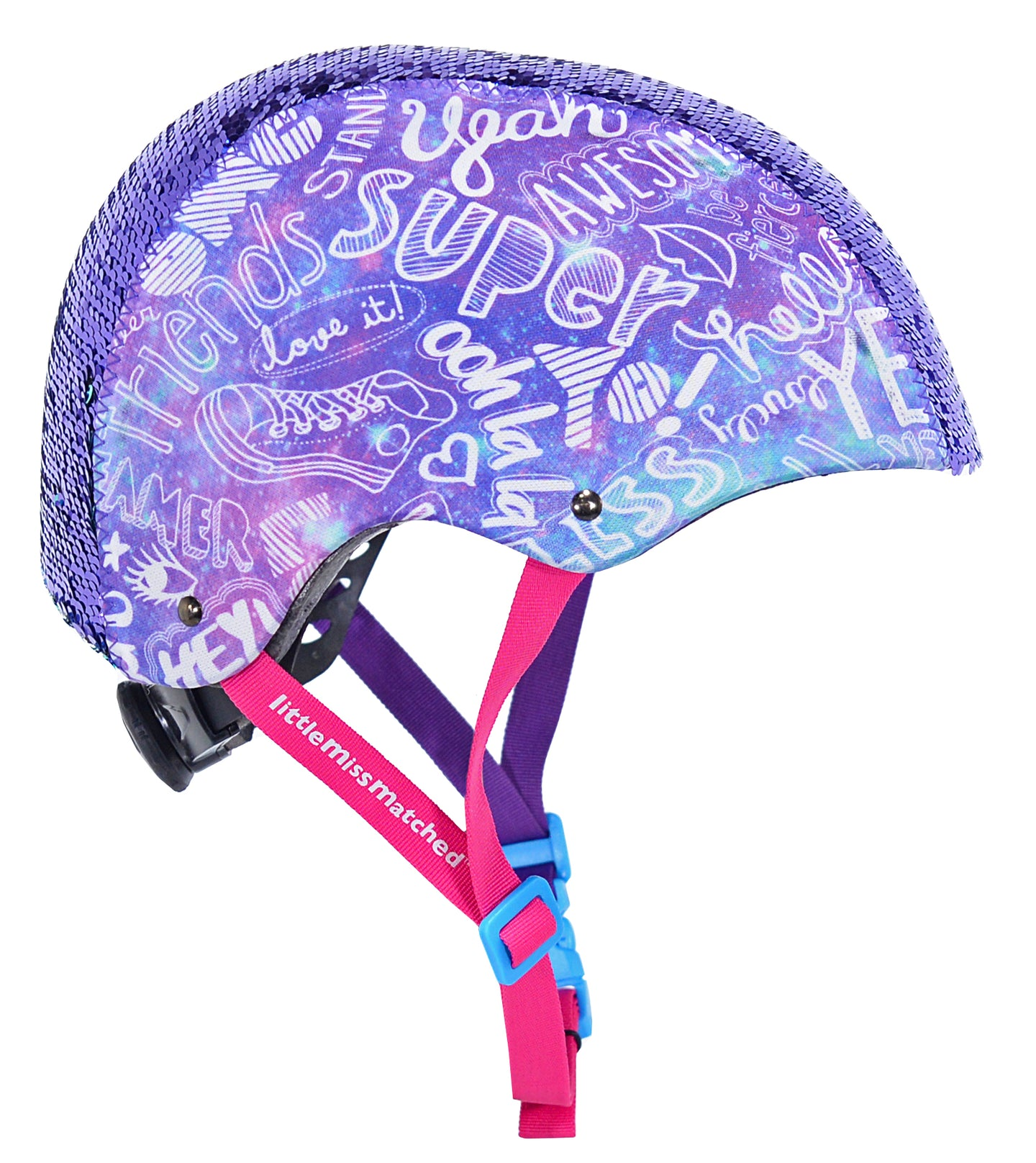 Magic Sequin Youth 8+ Bike Helmet, Purple