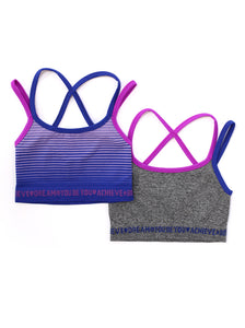 GREY & BLUE CROP TOP 2-PACK