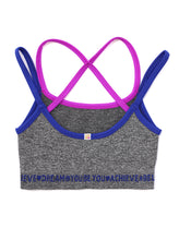 Load image into Gallery viewer, GREY & BLUE CROP TOP 2-PACK