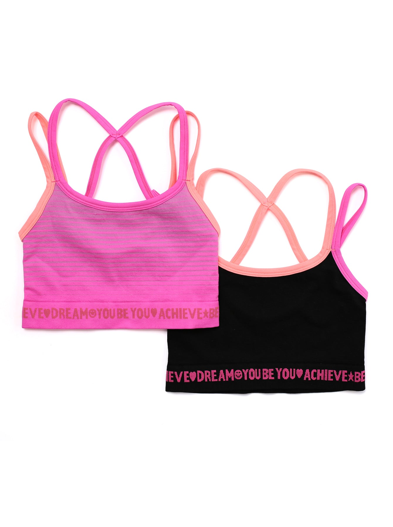BLACK & PINK CROP TOP 2-PACK