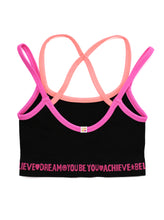 Load image into Gallery viewer, BLACK & PINK CROP TOP 2-PACK