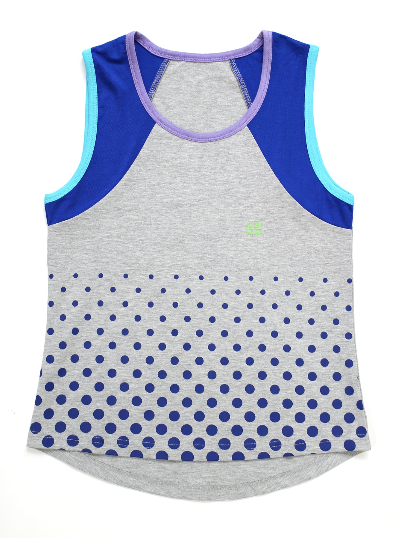 BLUE DOTS COVER UP TANK