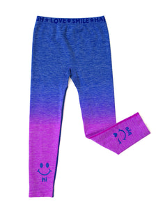 BLUE OMBRE HI BYE LEGGINGS